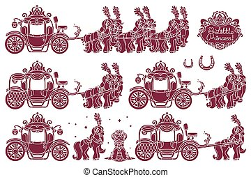 vecteur, voiture, cendrillon