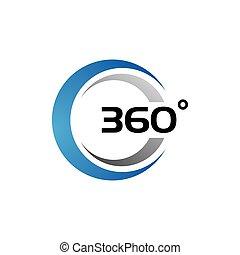 vecteur, vue, apparenté, icônes, 360 degré