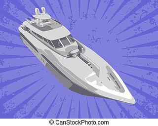 vecteur, yacht