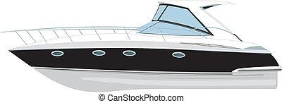 vecteur, yacht, illustration