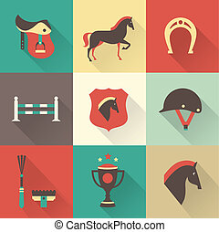 Horse icons - Vectir Horse icons set