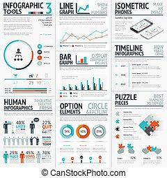 vecto, 気絶, infographic, 要素