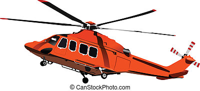 vecto, force., helicopter., kampf, luft