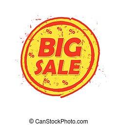 vecto, groot, verkoop, van, percentages