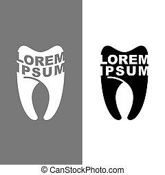 vecto, logotipo,  dental, Clínica, dente