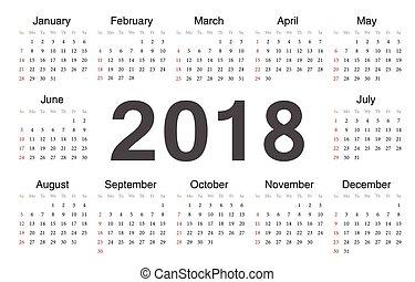 Vecto rcircle calendar 2018