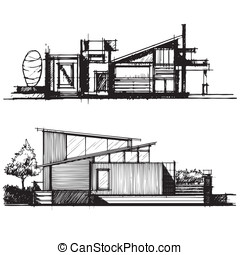vecto, skizze, design, architektur