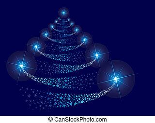 vector, árbol, navidad