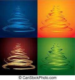vector, árboles de navidad