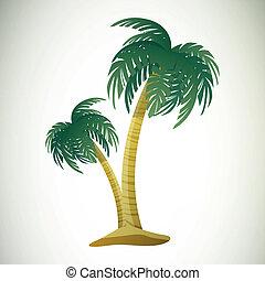 vector, árboles de palma
