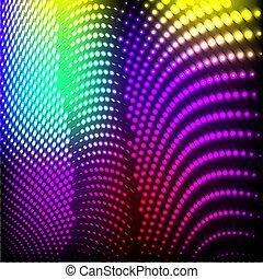 vector., カラフルである, 抽象的, ライト, 背景, 黒