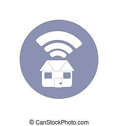 vector;, ネットワーク, サービス, pictogram, 概念, 家, シンボル, 印, 結合性, 接続, byod, 家, wi - fi, プレゼンテーション, ∥あるいは∥, アイコン