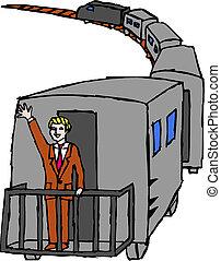 (vector, 列車, illustration)