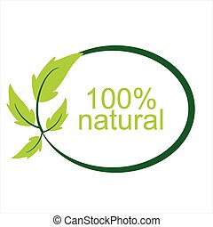 Vector 100 % nature logo and symbol