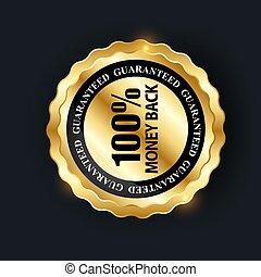 Vector 100% satisfaction guaranteed  label