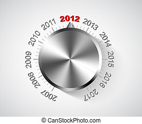 Vector 2012 New Year card