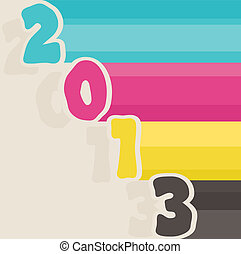 vector 2013 happy new year greeting