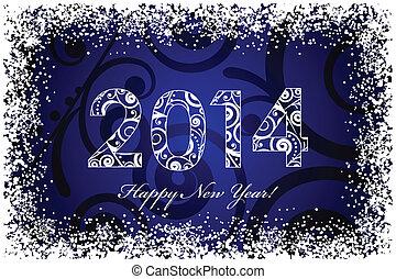 2014 floral blue background
