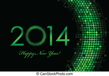 2014 green background - Vector 2014 green background - Happy...