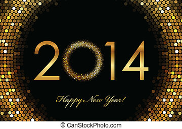 2014 Happy New Year - Vector - 2014 Happy New Year 2014...