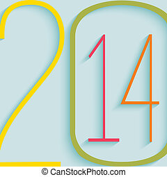 Vector 2014 Happy New Year background
