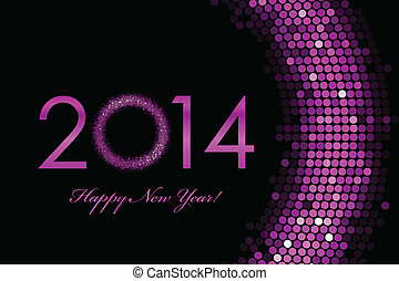 2014 Happy New Year - Vector 2014 Happy New Year purple...