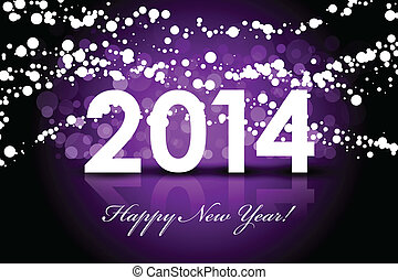 Vector 2014 - New Year background