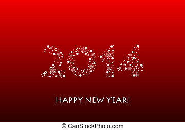 Vector 2014 new year background