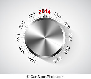 Vector 2014 New Year card