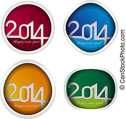 Vector 2014 year set