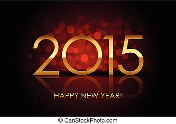 Vector 2015 - Happy New Year red blurred background