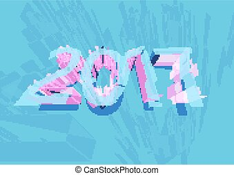 Vector 2017 Happy New Year background