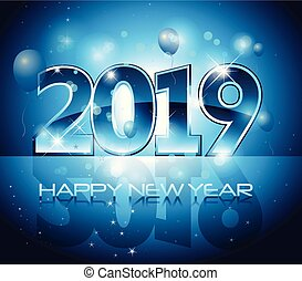 Vector 2019 Happy New Year background