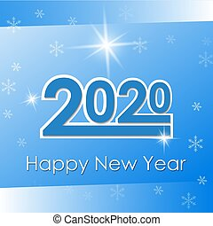 Vector 2020 Happy New Year background