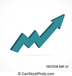 Vector 3d arrow business graph illustration.