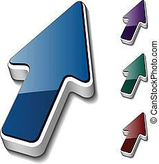 vector 3d arrow cursors