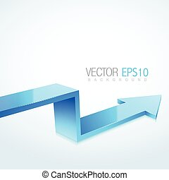 3d arrow illustration in isolated background