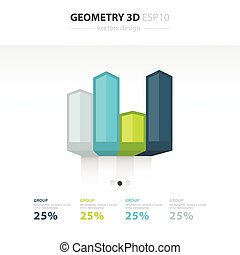 Vector 3d arrows infographic. Template for diagram, graph, presentation and chart. Business concept