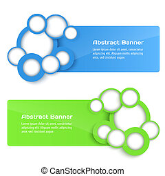 Vector 3D Banners with circle.