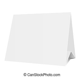 Vector 3d blank isolated on white