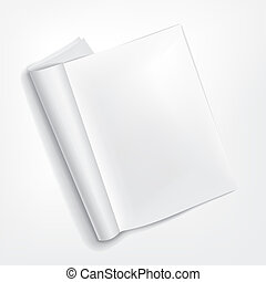 opened booklet on white background - vector 3d blank opened...