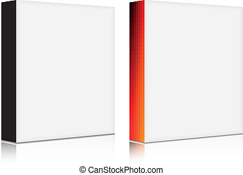 vector 3d blank software box with solid and gradient front