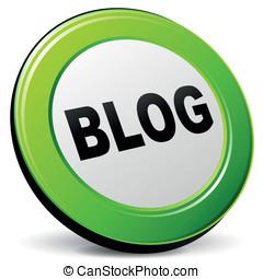 Vector 3d blog icon