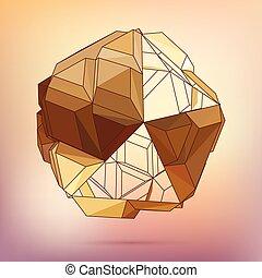 Vector 3D concept illustration.