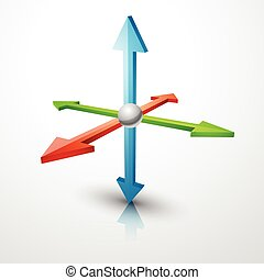 3d coordinates axis - vector 3d coordinates axis design