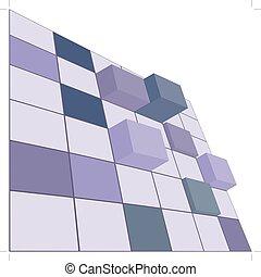 vector 3d cube concept