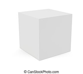 Vector 3D cube isolated on white background