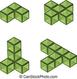 vector 3d cubes