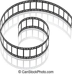 vector 3d film strip