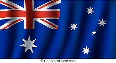 Vector 3D flag of Australia national symbol